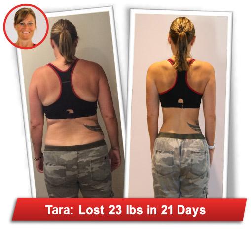 Tara lost 23 lbs.