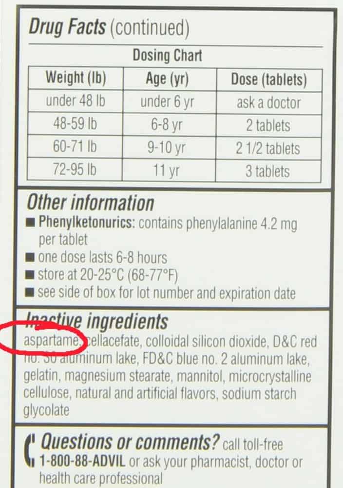 Advil ingredients